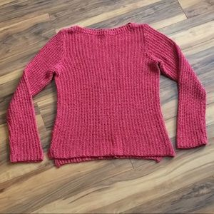 Ralph Lauren Sweaters - Ralph Lauren Co. Red-Pink Chunky Knit Sweater